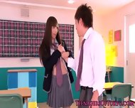 Asian Schoolgirl Aino Kishi Gets Facialized