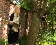 Goldenshower Slut Fucked Outdoors