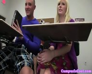 College Haze Teen Playing With Pussy In Class
