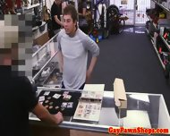 Gay Pawnshop Threeway For Straight Poor Jock - scene 1