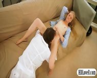 Cutie Blonde Teen Girl Avril Hall Pussy Fucking On Sofa