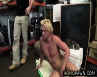 Pervert Shop Owner And His Hunk Assistant Nailed Their Costumer In The Ass