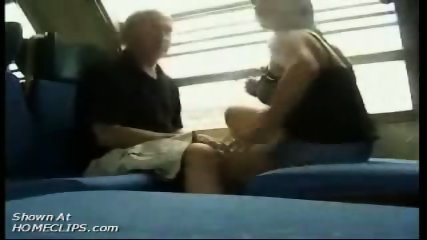 Papy kisses big tits in train - scene 12