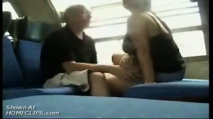Papy kisses big tits in train - scene 6