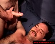 Mature Hairy Bear Sprays His Load