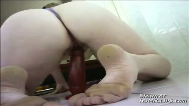 Amateur fingering her ass while sitting on a dildo