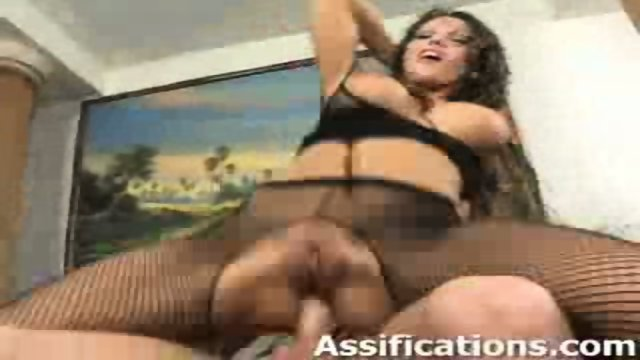 This chick gets her ass fucked intensely