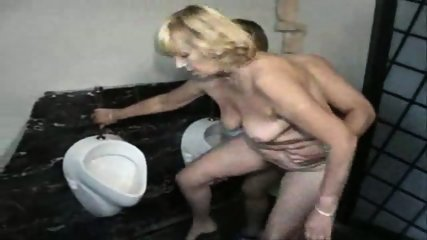 German fucking Cleaning Lady in Toilet - scene 10