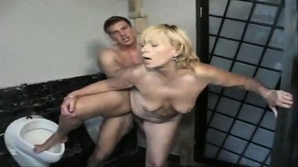 German fucking Cleaning Lady in Toilet - scene 11