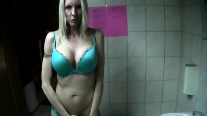 Milf Sucks Hard Boner In The Bathroom - scene 5