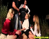 Pissfetish Skanks Loving Outdoor Group Bang