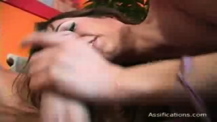 This horny slut gets a big one up her wet cunt - scene 1