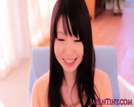 Tanlined Tiny Yumeno Aika Removes Lingerie