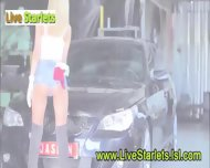 Super Hot Girl With Hot Car