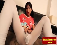 Skinny Thai Shemale Stretches Butthole