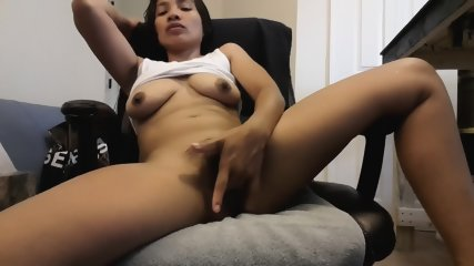 Exotic Brunette Plays With Pussy - scene 9