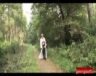 Brit Trophy Wife Takes A Stroll In The Woods Brit Trophy Wife Takes A Stroll In The Woods
