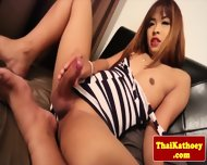 Young Petite Thai Tgirl Models Her Ass