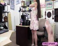 Stunning Lady Gets Fucked In The Shop And Moans Like A Virgin