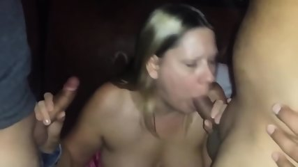 Fucking And Sucking Two Horny Strangers In The Porn Theater - scene 2