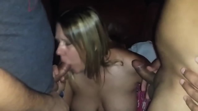 Fucking And Sucking Two Horny Strangers In The Porn Theater