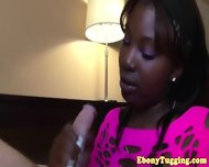 Glam Tugging Ebony Duo Play With Whiteboy Pov - scene 11