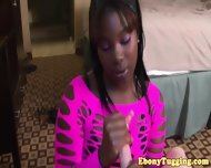 Glam Tugging Ebony Duo Play With Whiteboy Pov