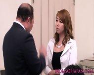Innocent Asian Babe Licking Classy Mature Box
