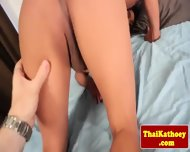 Gorgeous Thai Shemale Teases On Bed