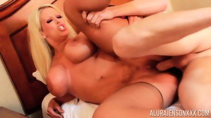Busty MILF Plays With Two Cocks
