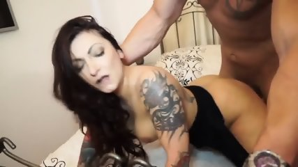 Inked Lady In Hardcore Action