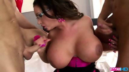 Busty Whore Banged By Two Guys - scene 12