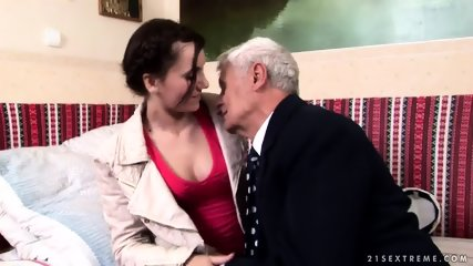 Mature Captain Fucks Attractive Brunette - scene 2