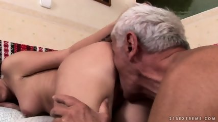 Mature Captain Fucks Attractive Brunette - scene 6