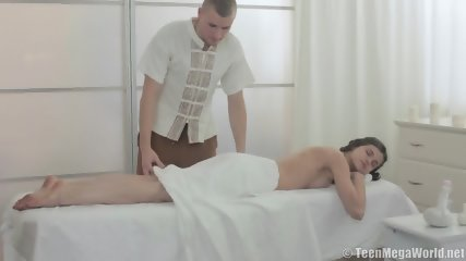 Teenage Girl Gets Intensive Pussy Massage - scene 1