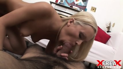 Nice Blonde With Dick In Ass