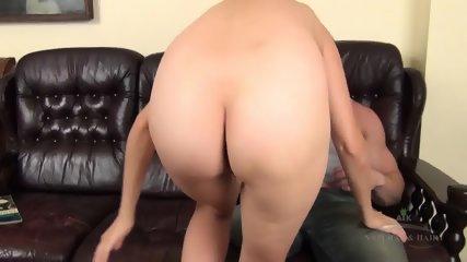 Hairy Pussy Banged On Leather Sofa - scene 2