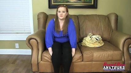Chubby Amateur Swallows Cum - scene 1