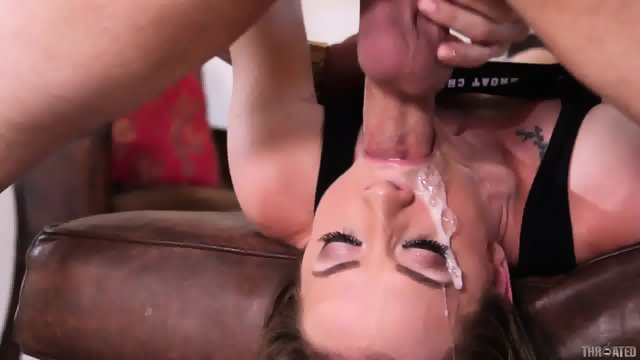 Sticky Cum On Face After Throat Fuck