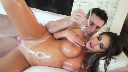 Big Dose Of Oil On Busty Girl
