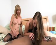 Mom And Teen Share Black Cock