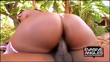 Big Ebony Ass Pounded In Garden - scene 5
