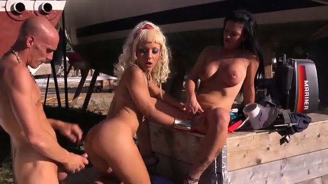 Horny Bitches In Outdoor Action