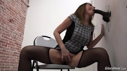 Sexy Lady Sucks And Rides Dick Through The Hole In Wall - scene 4