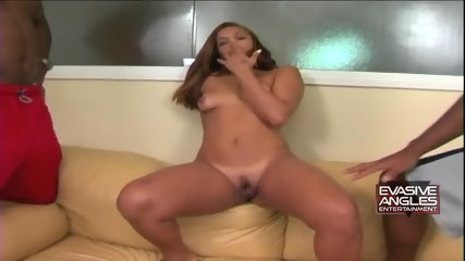 Blonde Latina Serves Three Guys - scene 2