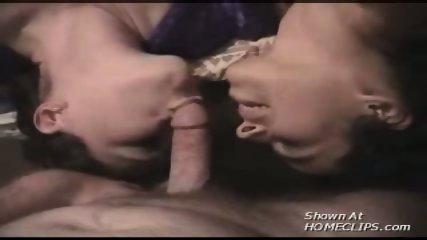 Two girls suck a lucky guy! - scene 1