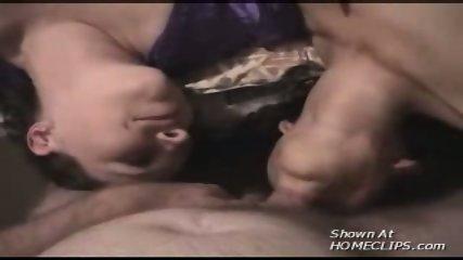 Two girls suck a lucky guy! - scene 3