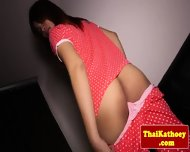 Young Thai Ladyboy Inserts Toy In Butt
