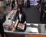 Busty Milf Facialized For Cash At Pawnshop
