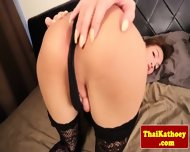 Young Thai Tgirl In Stockings Solo Plays